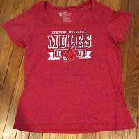 University Of Central Missouri UCM Women's Tshirt Mules 2X XL Large