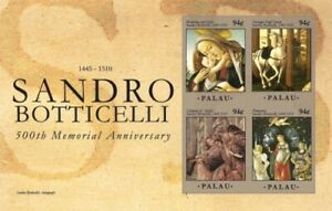 Palau - 2010 - Sandro Botticeli 500th Memorial Anniversary - Sheet of Four - MNH