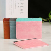 Case Leather ID Card Holder Card Package Money Pocket Business Card Wallet
