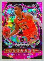 Isaac Okoro RC 2020-21 Prizm Draft Picks Pink Cracked Ice Crusade Rookie Card 84