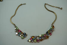 VINTAGE RHINESTONE JEWELRY NECKLACE CHOKER FOR PARTS REPAIR GOOD MAKER QUALITY