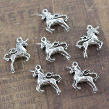 Tone 3D Accessories Silver DIY Making 10 Pcs Unicorn Pendants Charms Unicorn