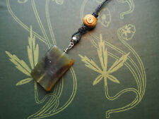 Jade Gemstone Pendant On Cord - Pagan, Wicca, Witchcraft, Healing, Crystal