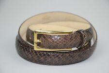 authentic Longchamp womens snake skin leather belt