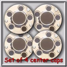 2007-2008 Chevy Impala Police Car 3 Screw Center caps, Bolt on hubcaps Set of 4