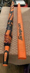 Snap - On Large Umbrella Bright Orange. New Premium Vented Golf Style Umbrella