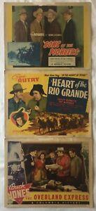 ROY ROGERS - GENE AUTRY - BUCK JONES - GABBY HAYES - 1938 - 1942 GREAT WESTERNS