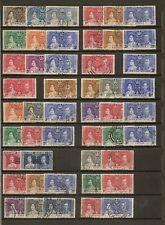 1937 KGVI CORONATION OMNIBUS (42) FINE USED SETS (147 OF 202)