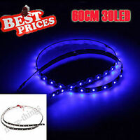 60cm 30 SMD LED Car Van Flexible Neon Grill Strip Light Lamp 12V Waterproof Blue