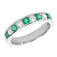 Unbranded Emerald Eternity White Gold Fine Rings