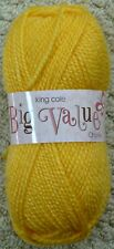 King Cole Big Value Chunky 100gm Balls 26 Colours 828 Yellow