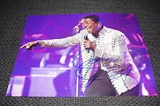 JERMAINE JACKSON signed Autogramm auf 20x28 cm Foto InPerson MICHAEL JACKSON