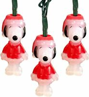 Peanuts Snoopy Christmas Lights 10 Battery Operated Led Lights Snoopy LOT OF 10