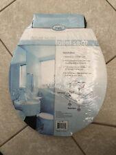 "Comfort Seats Deluxe Wood Round Front Toilet Seat 16.5""."