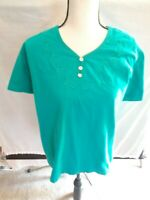 White Stag Women's Green Pullover Stretch Top Size