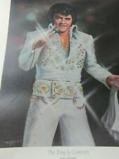 ELVIS ORIGINAL ART PHOTO OIL PAINTING SIGNED NUMBERED IN CONCERT FINNELL