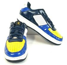 Starbury Basketball Shoes Patent Leather Blue Yellow White Mens Size US 8.5
