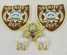 The Walking Dead King County Sheriff Metal Badge Pin Collar Badge Patch – US078