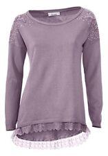 Oversized Pullover, Linea TESINI, Gr.44/46, 60% Viskose, 40% Baumwolle