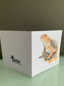 Bearded Dragon Blank Greetings Card & Envelope - New - Unique - Gift - Reptile
