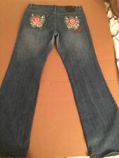 Ed Hardy Denim Skull Heads Christian Audigier Womens Size 13 14 Jeans
