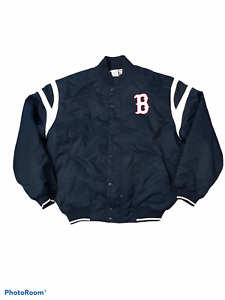 Russell Athletic Men's Boston Red Sox Baseball Button Up Snap Jacket Size XL