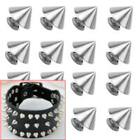 25 PCS Trendy 9MM Silver Spots Cone Screw Metal Studs Rivet Bullet Spikes