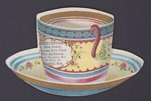 Kaffee Werbung - Victorian Trade / Advertising Card - Tea Coffee Cup