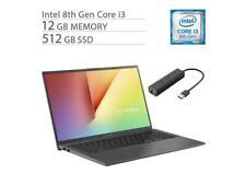 """ASUS VivoBook 15 Laptop 15.6"""" FHD i38145U 12GB RAM 512GB SSD RJ45 LAN"""