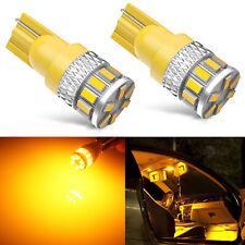 Jdm Astar 2x T10 Led Yellow Amber Marker Interior Light Bulbs 194 168 2825 W5w Fits Rsx