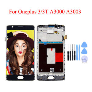 Original For Oneplus 3/3T LCD Display Touch Screen Digitizer Frame Replacement