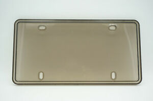 Shatter Proof License Plate Cover Frame Tinted Dark Smoke Canada/USA Made in CAN