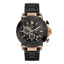 GC X90006G2S Gent's Gc Sport Chic Watch Rose Gold/Black Chronograph