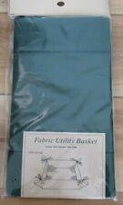 "Fabric Utility Basket Hunter or Forest Green, 7.5"" x 7.5"" x 3"" Folding with Ties"
