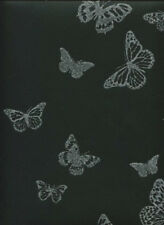 Sparkle Black Silver Glitter Butterflies Butterfly Wallpaper