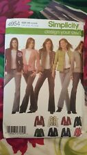 Simplicity 4954 Pattern Design Your Own Lined Jackets Size 4, 6, 8, 10 UNCUT