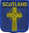 Scotland Celtic Cross Embroidered Patch