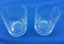 (2) Crown Royal Whiskey Glass Limited 75 Years Commemorative Embossed Liquor