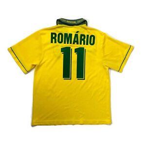 🔥Romario #11🔥Original Brazil 1993/1994 Home Football Shirt Umbro - Size Large