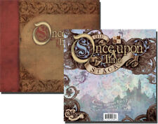 Once Upon a Time Scrapbook Album & Glitter Paper Stack Lot DCWV