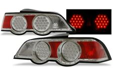 LED Tail Lights Chrome Housing DEPO Fits 2002-2004 Acura RSX