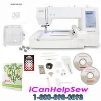Janome Memory Craft 400E Embroidery Machine *Bonus Artistic Monogram Software