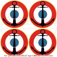 """FRANCE French Naval Aviation Aircraft Roundel 50mm (2"""") Stickers Decals x4"""