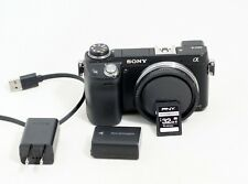 Sony Alpha NEX-6 16.1MP Digital Camera Black Body Only LOW SHUTTER COUNT