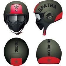 Caschi casco aperti rossi per la guida di veicoli visiera antigraffio