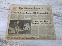 The Columbus Dispatch US Elvis Presley Funeral Vintage Newspaper August 18 1977