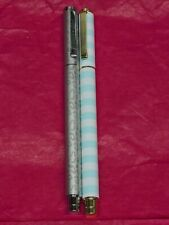 Simply Gilded Grey Animal Print And Blue Striped Pens