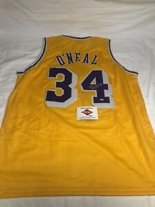 SHAQUILLE O'NEAL AUTOGRAPHED CUSTOM  LAKERS JERSEY COA PAAS
