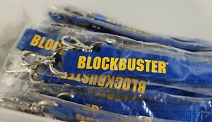 Blockbuster Video Employee Lanyard - Vintage Authentic! NEW! 90s Rare Old Stock