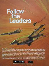 7/1969 PUB TELEDYNE RYAN AERONAUTICAL FIREBEE TARGET F-4 FIGHTER ORIGINAL AD